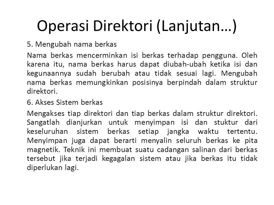 Operasi Direktori (Lanjutan…)