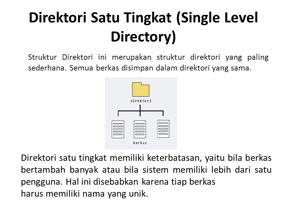 Direktori Satu Tingkat (Single Level Directory)