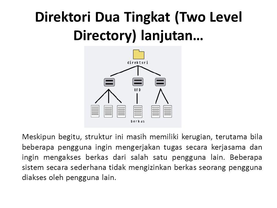 Direktori Dua Tingkat (Two Level Directory) lanjutan…