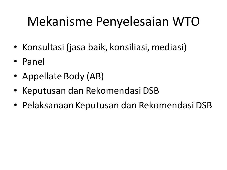 Mekanisme Penyelesaian WTO