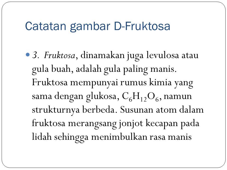 Catatan gambar D-Fruktosa