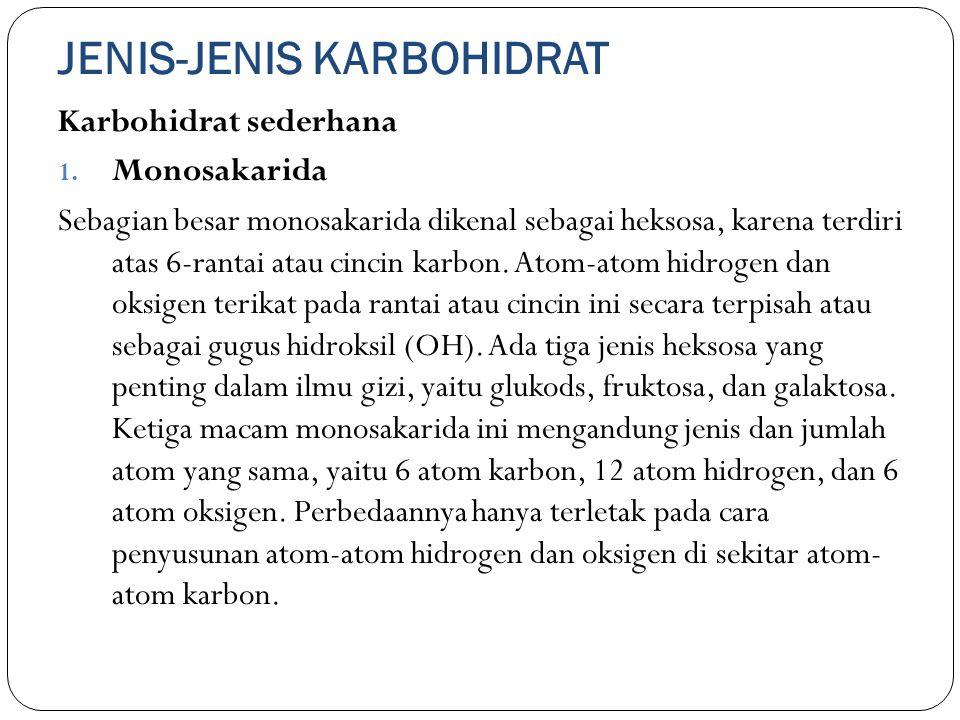JENIS-JENIS KARBOHIDRAT