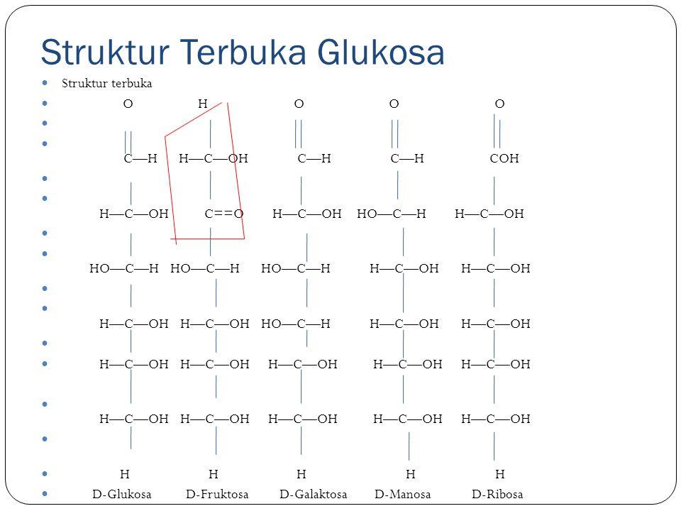 Struktur Terbuka Glukosa