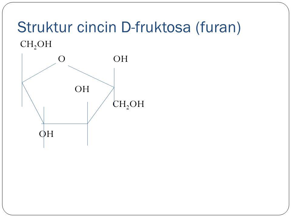 Struktur cincin D-fruktosa (furan)