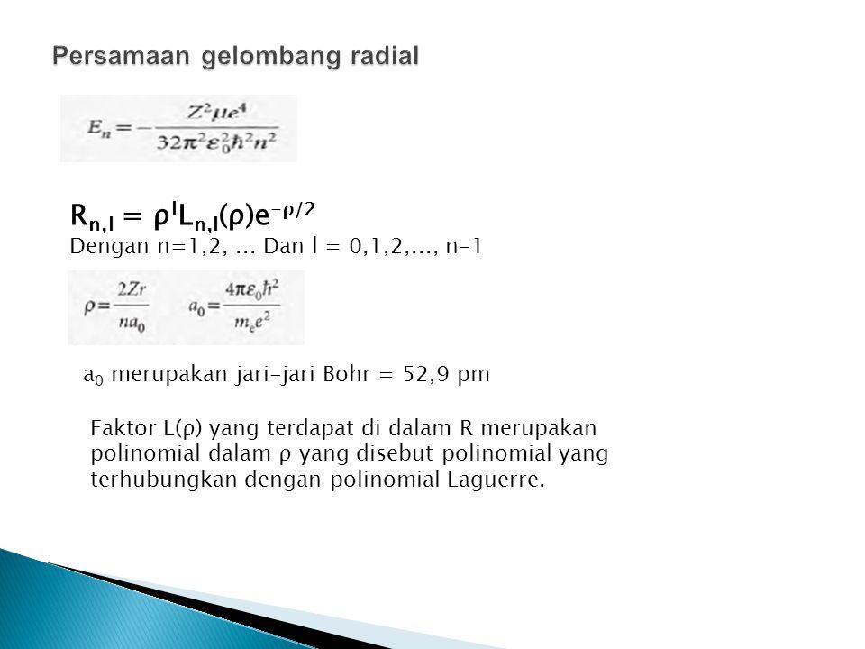 Persamaan gelombang radial