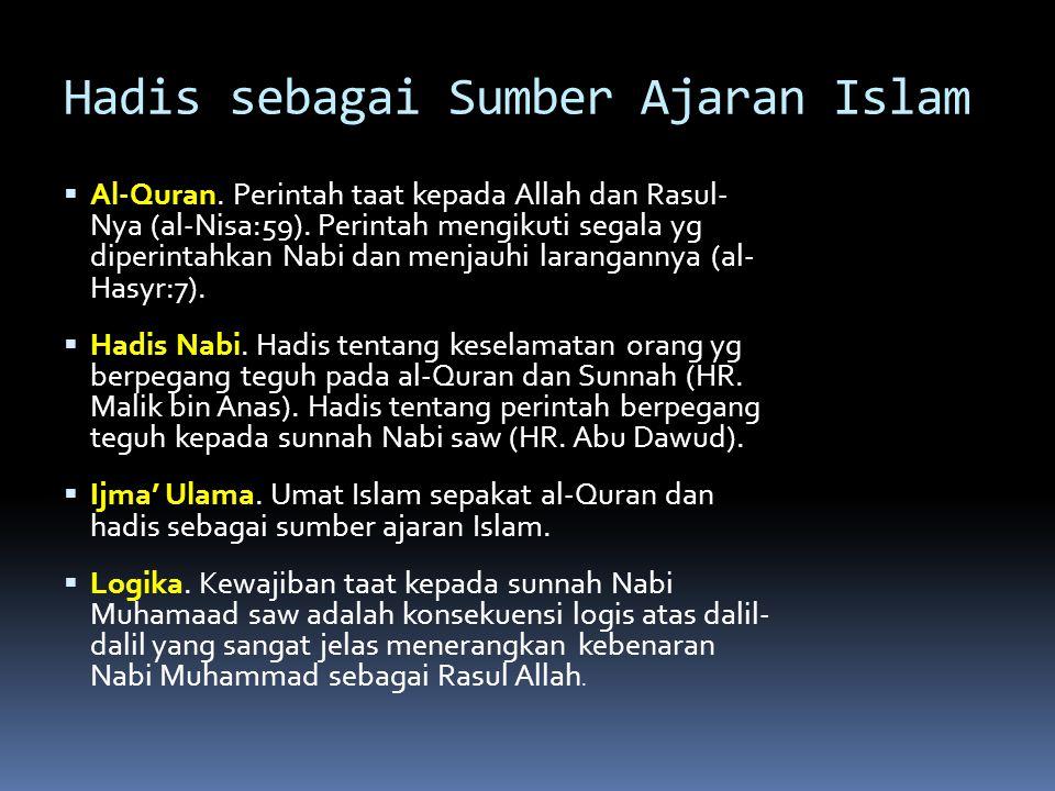 Hadis sebagai Sumber Ajaran Islam
