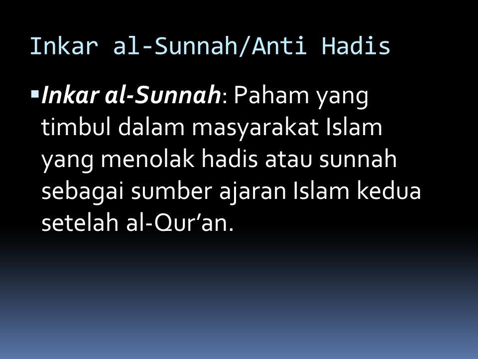 Inkar al-Sunnah/Anti Hadis