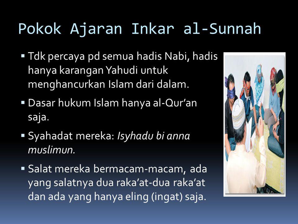 Pokok Ajaran Inkar al-Sunnah