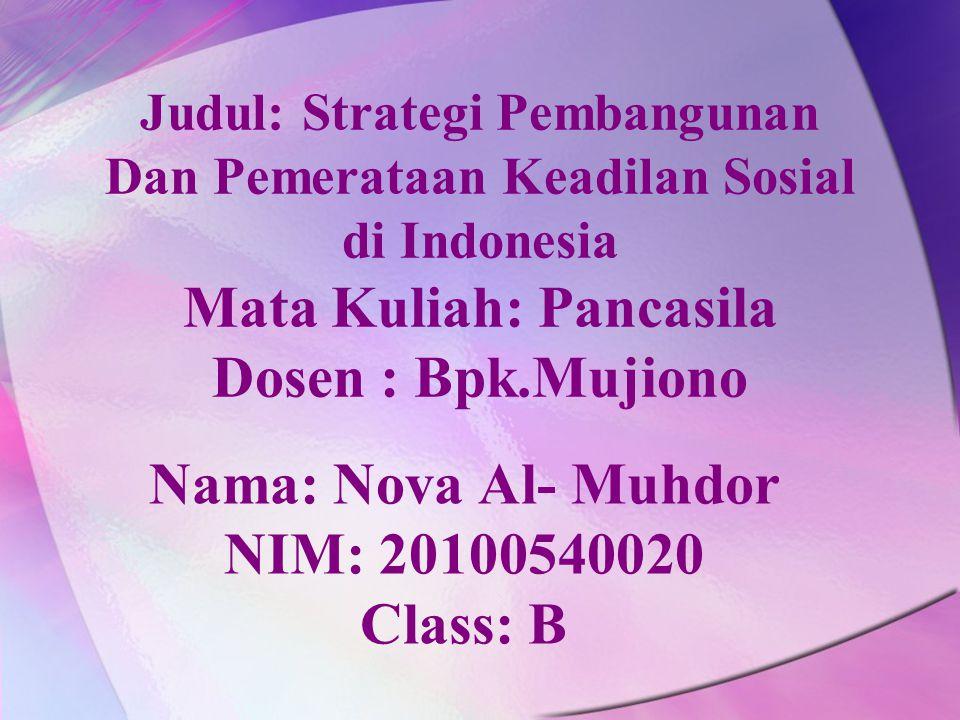 Nama: Nova Al- Muhdor NIM: 20100540020 Class: B