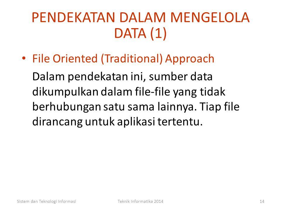 PENDEKATAN DALAM MENGELOLA DATA (1)