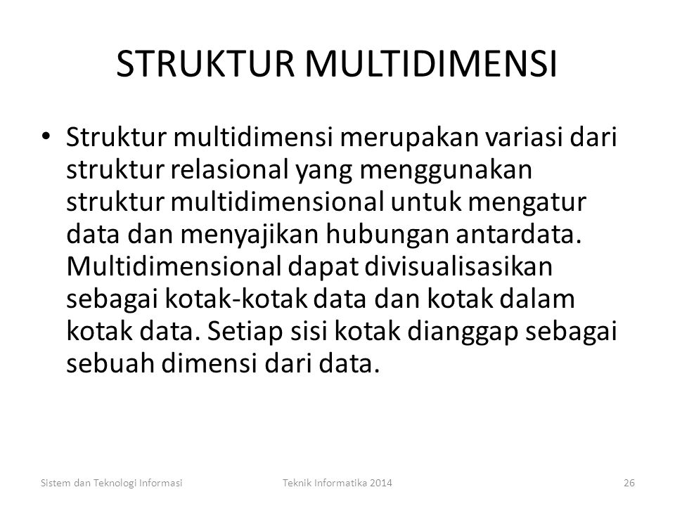 STRUKTUR MULTIDIMENSI