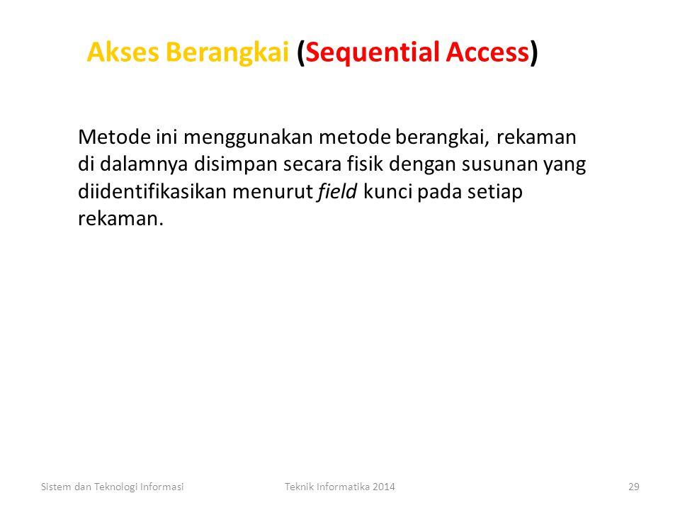 Akses Berangkai (Sequential Access)