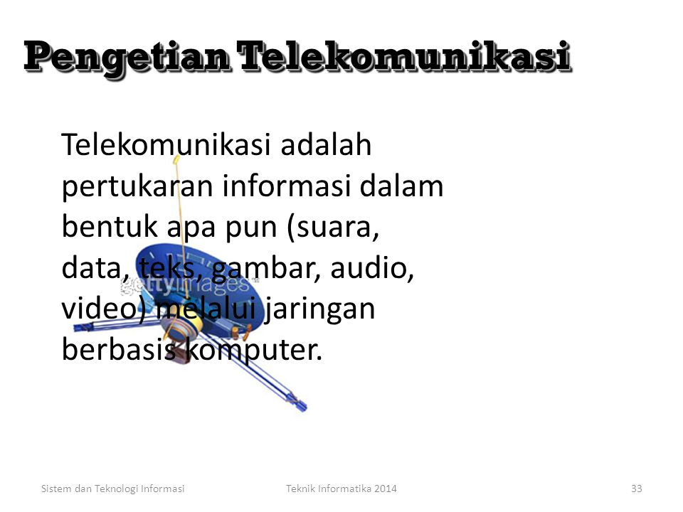 Pengetian Telekomunikasi