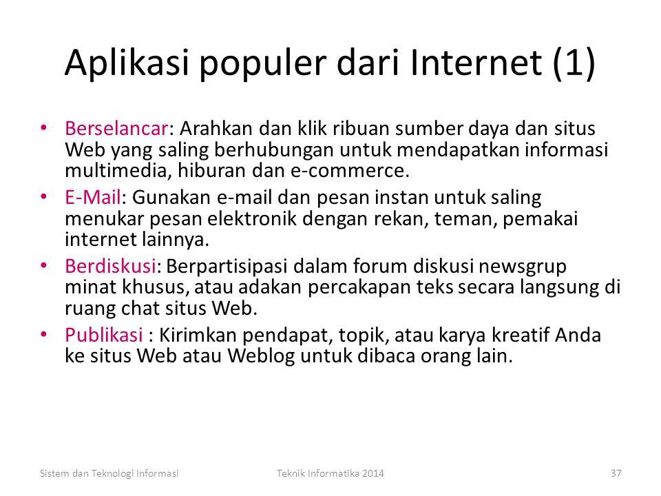 Aplikasi populer dari Internet (1)