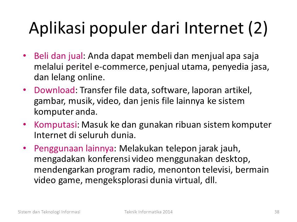 Aplikasi populer dari Internet (2)