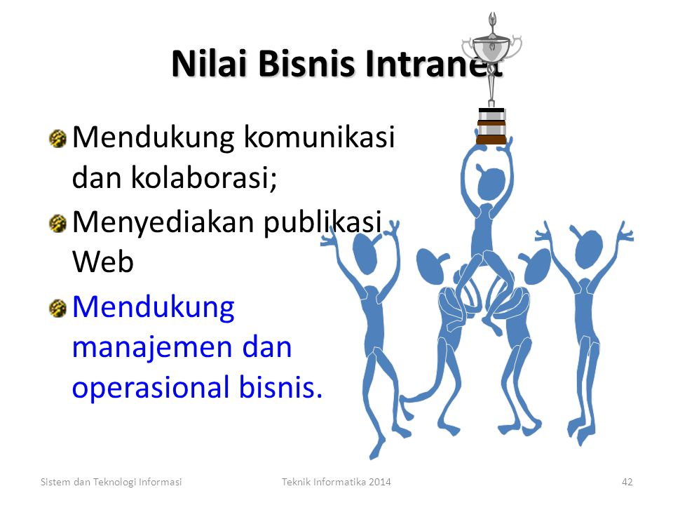 Nilai Bisnis Intranet Mendukung komunikasi dan kolaborasi;