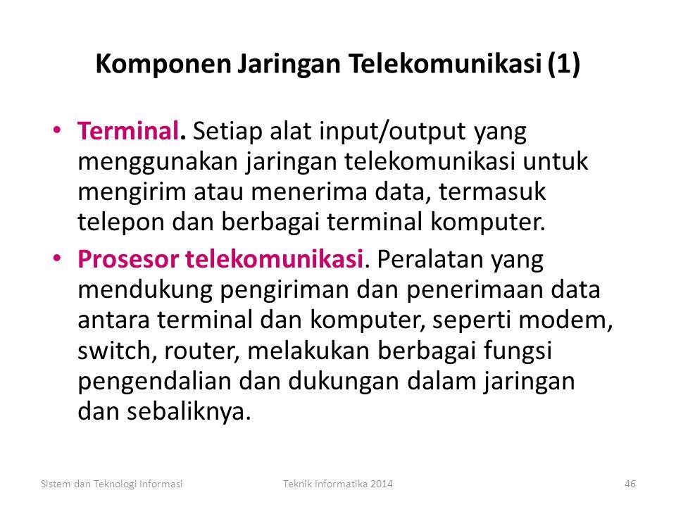 Komponen Jaringan Telekomunikasi (1)