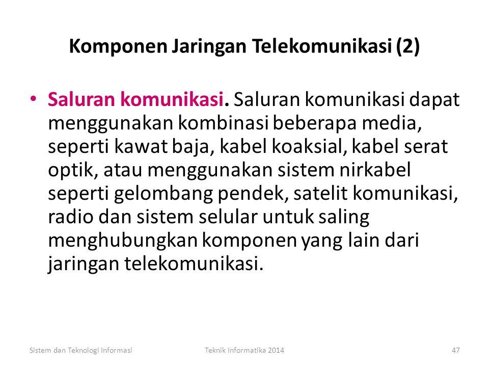 Komponen Jaringan Telekomunikasi (2)