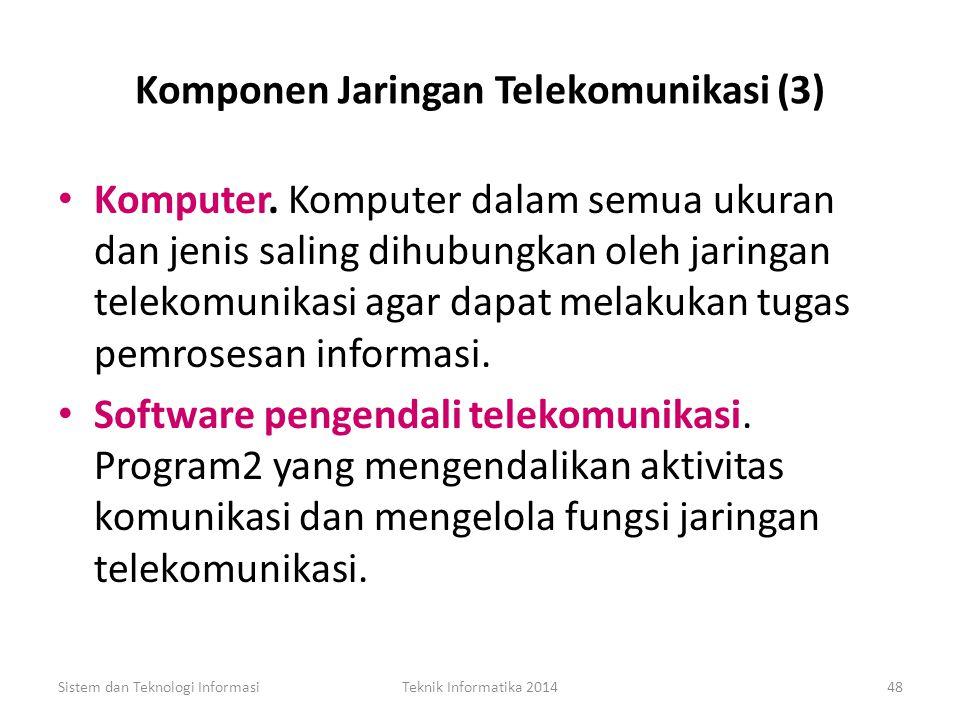 Komponen Jaringan Telekomunikasi (3)