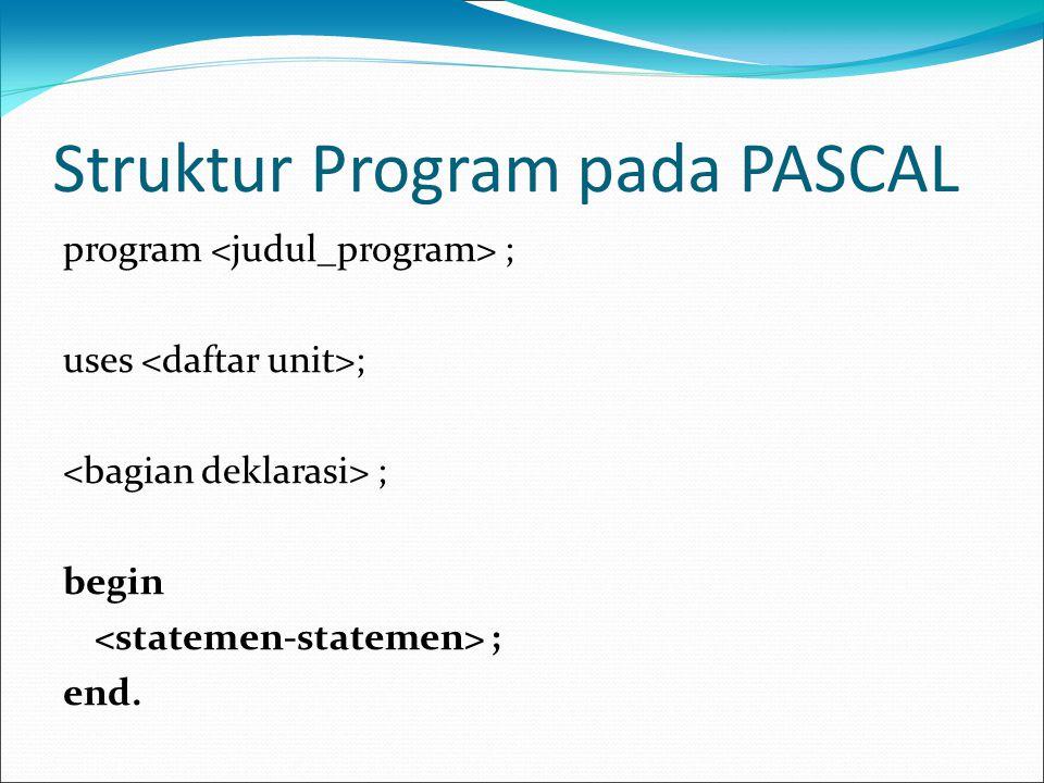 Struktur Program pada PASCAL