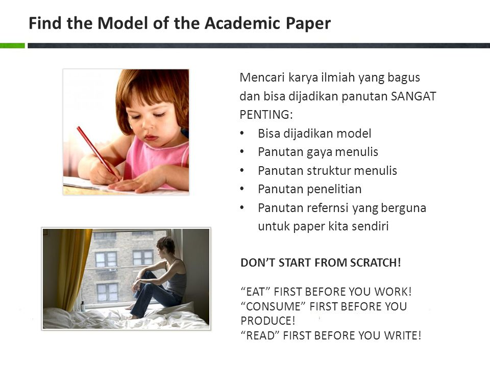 Find the Model of the Academic Paper