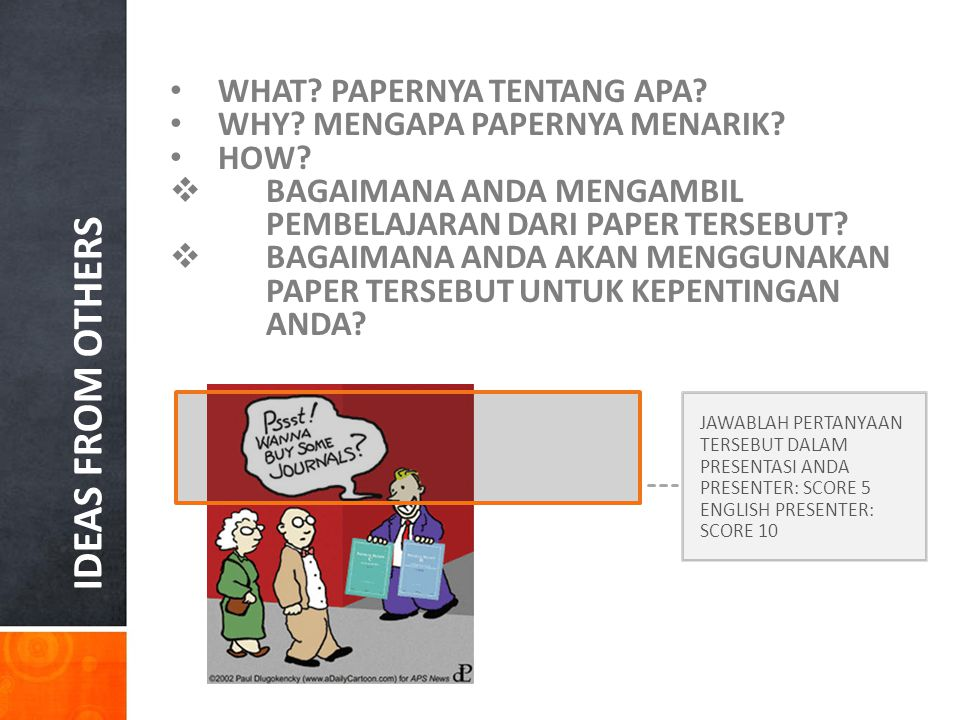 IDEAS FROM OTHERS WHAT PAPERNYA TENTANG APA