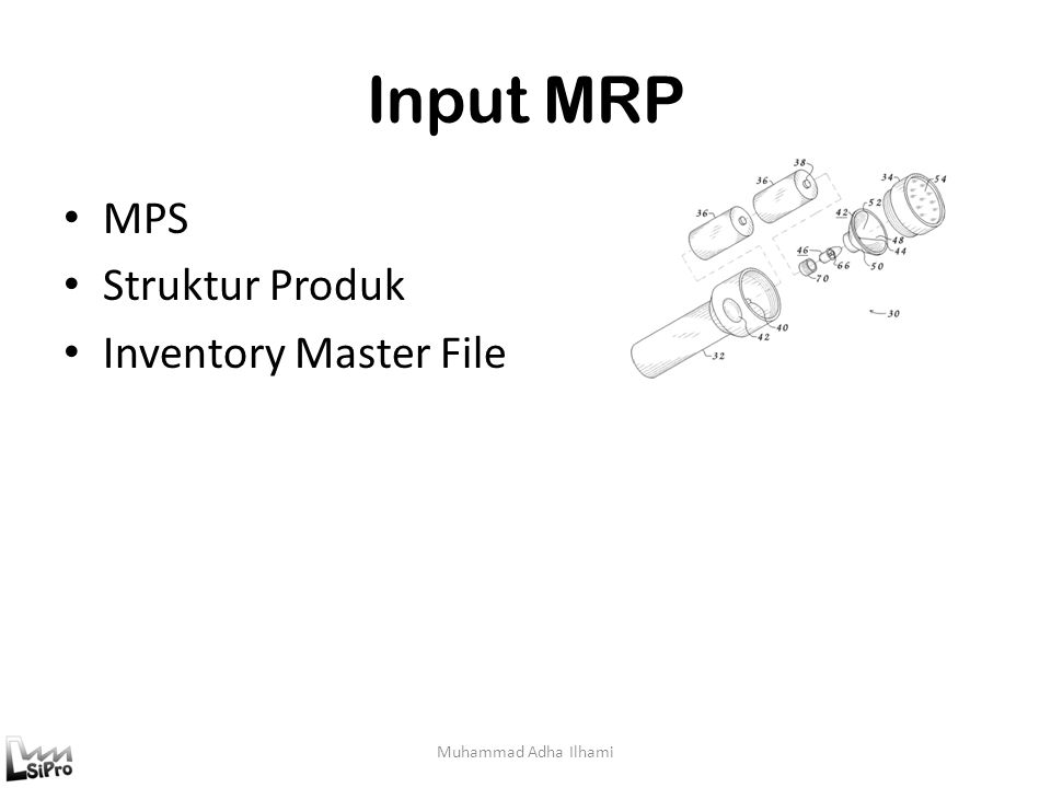 Input MRP MPS Struktur Produk Inventory Master File