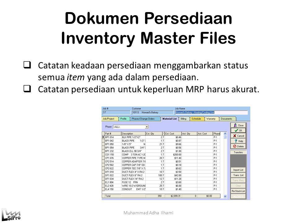 Dokumen Persediaan Inventory Master Files