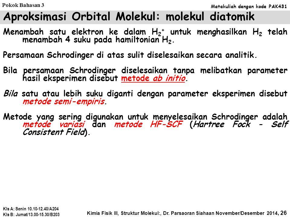 Aproksimasi Orbital Molekul: molekul diatomik