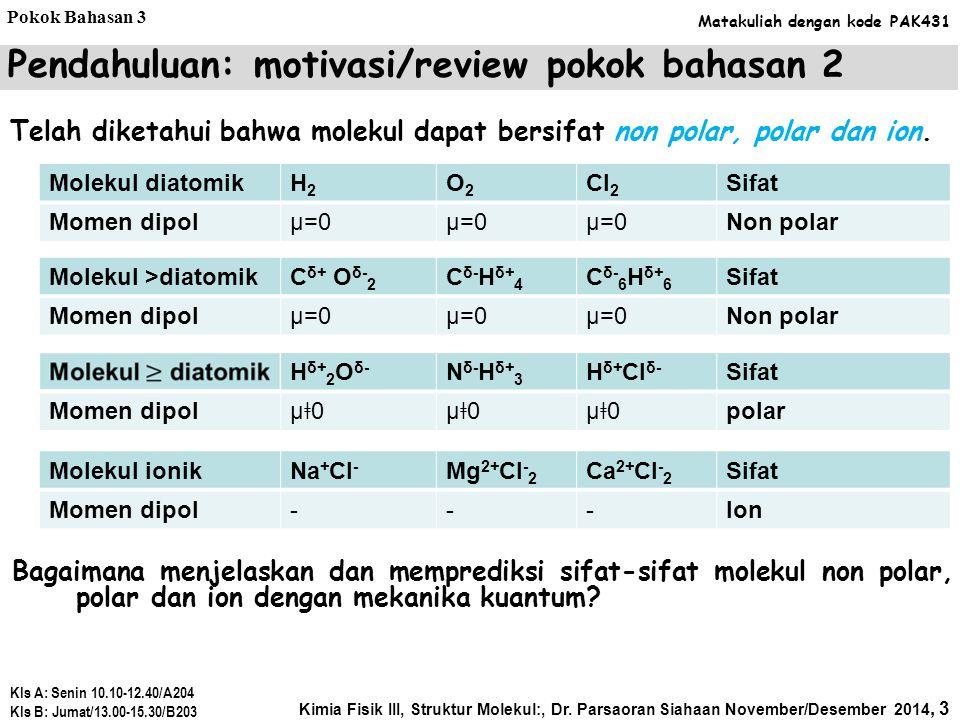 Pendahuluan: motivasi/review pokok bahasan 2