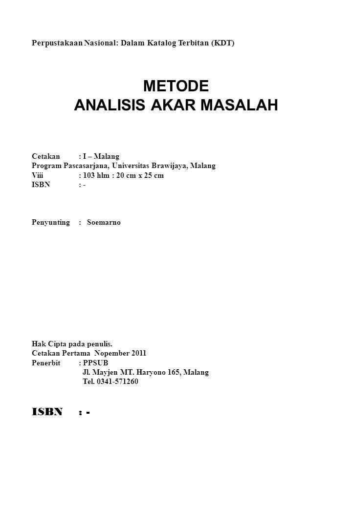 METODE ANALISIS AKAR MASALAH