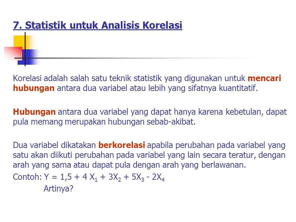 7. Statistik untuk Analisis Korelasi