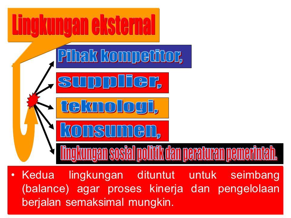 lingkungan sosial politik dan peraturan pemerintah.