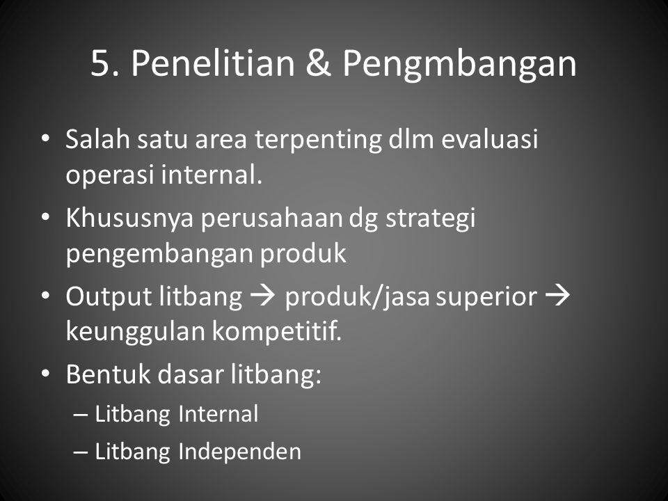 5. Penelitian & Pengmbangan