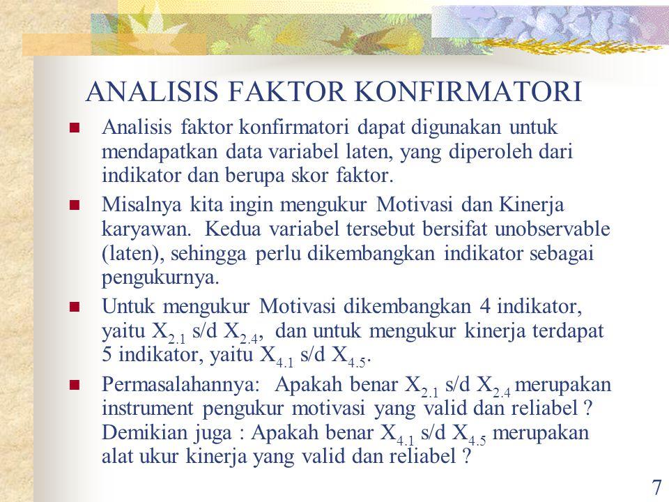 ANALISIS FAKTOR KONFIRMATORI