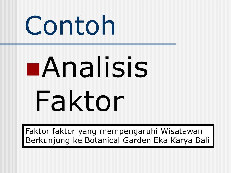 Analisis Faktor Contoh