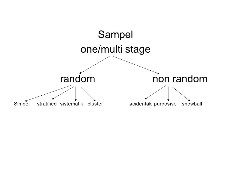 Sampel one/multi stage random non random