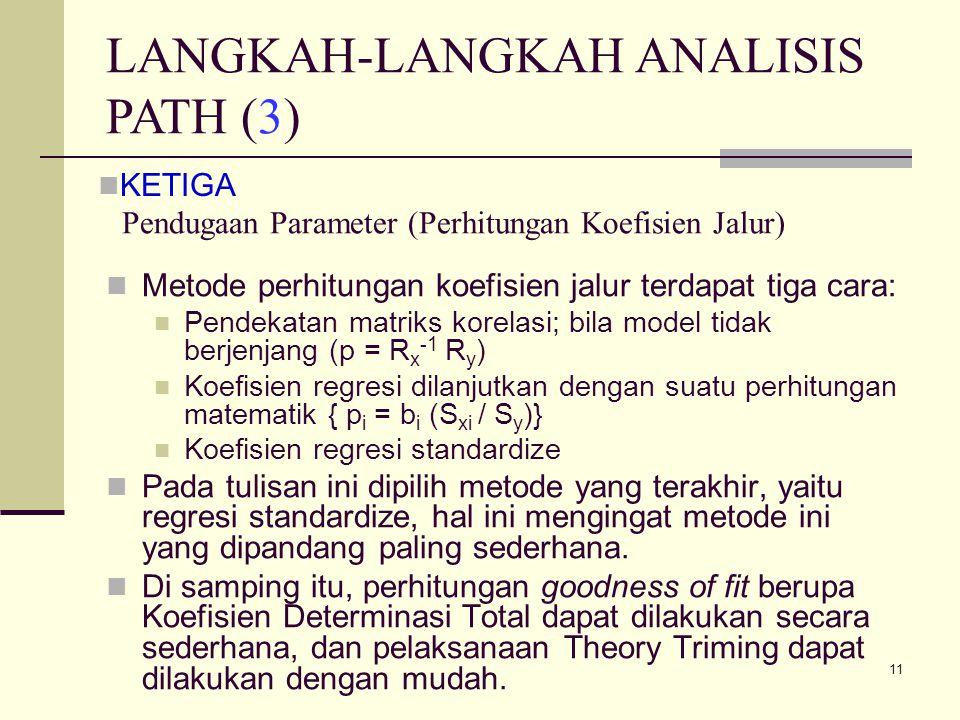 Pendugaan Parameter (Perhitungan Koefisien Jalur)