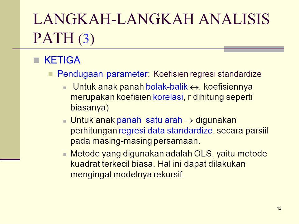 LANGKAH-LANGKAH ANALISIS PATH (3)