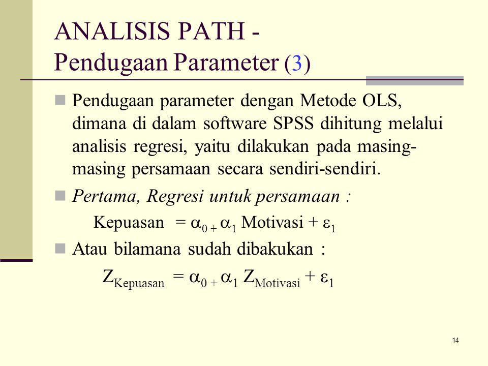 ANALISIS PATH - Pendugaan Parameter (3)