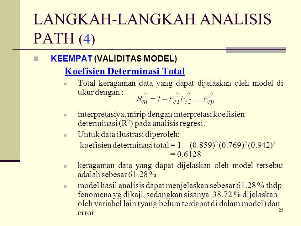 LANGKAH-LANGKAH ANALISIS PATH (4)