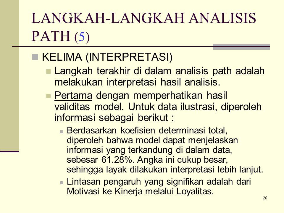 LANGKAH-LANGKAH ANALISIS PATH (5)
