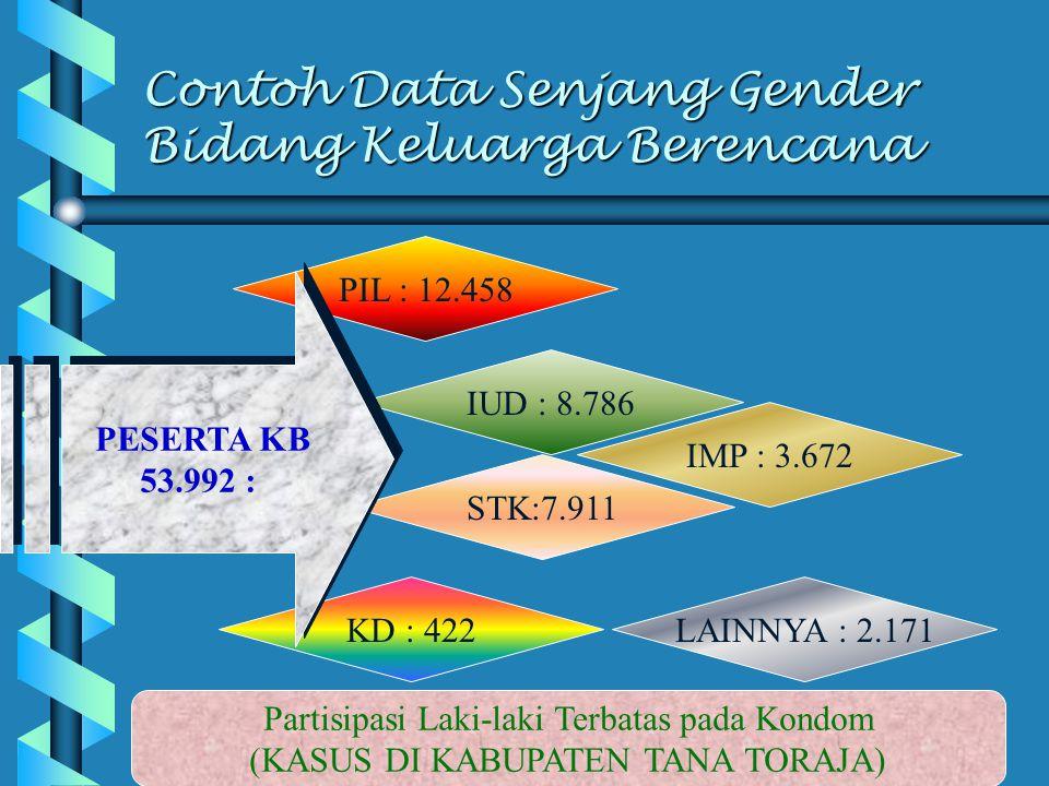Contoh Data Senjang Gender Bidang Keluarga Berencana