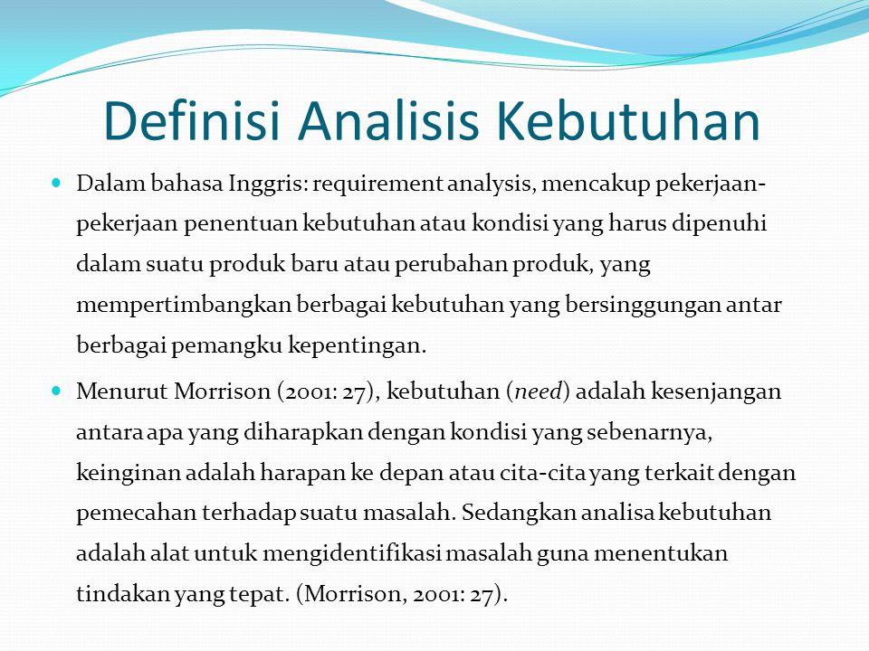 Definisi Analisis Kebutuhan