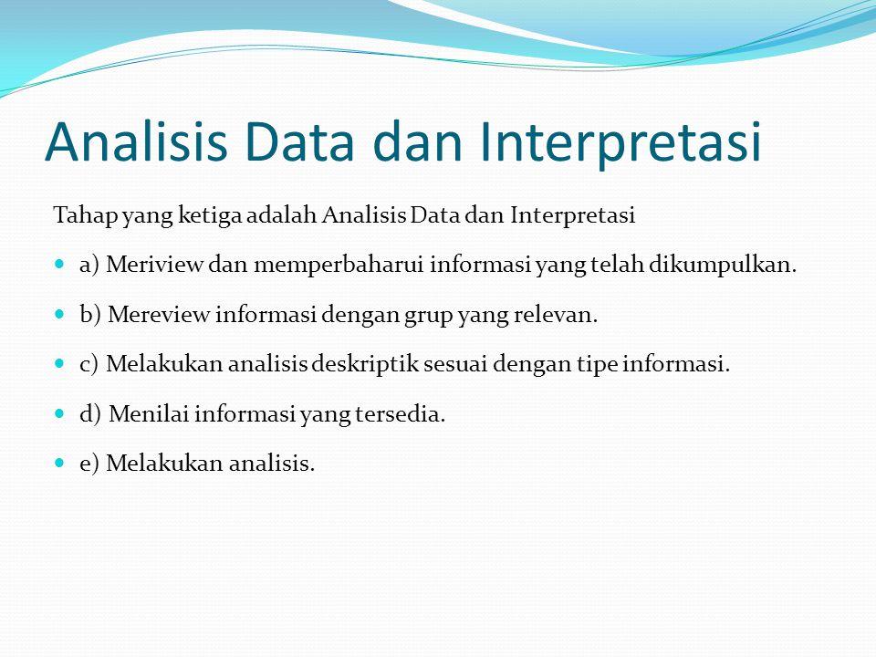 Analisis Data dan Interpretasi