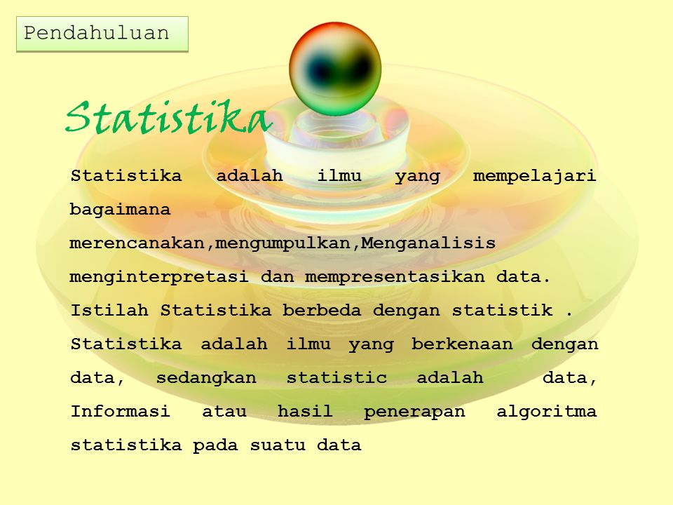 Statistika Pendahuluan