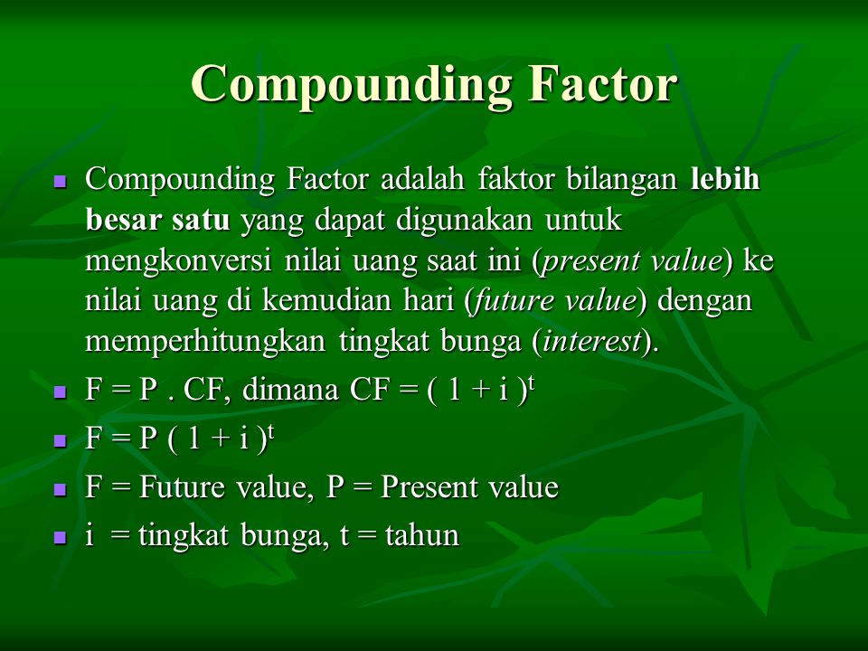 Compounding Factor