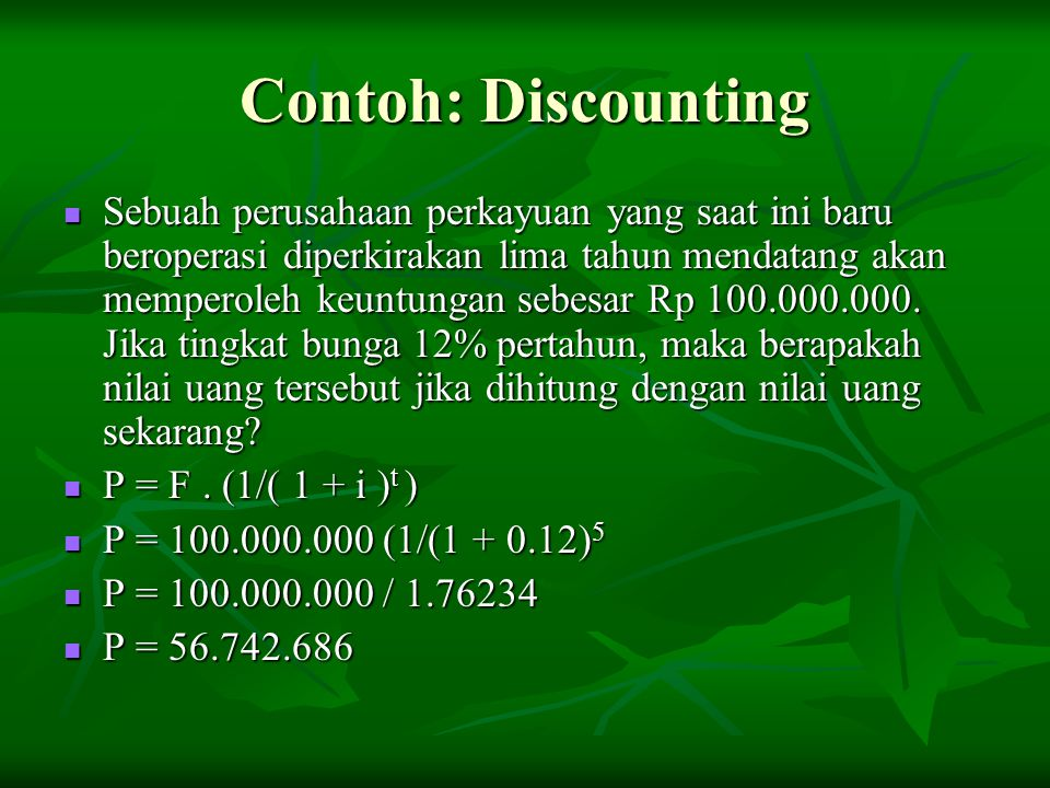 Contoh: Discounting