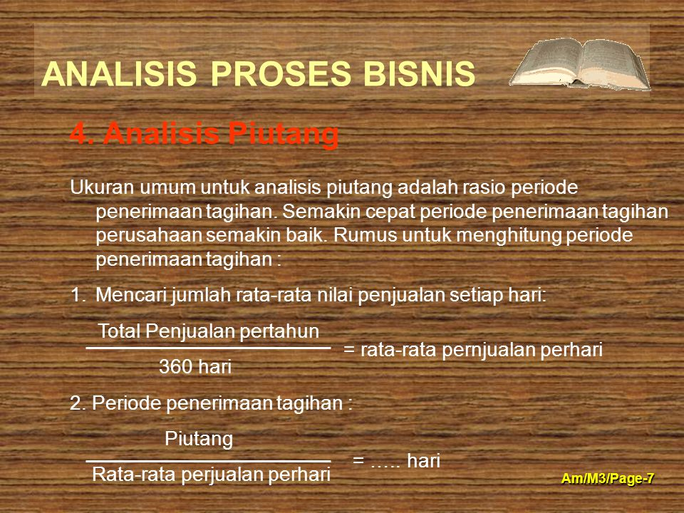 4. Analisis Piutang