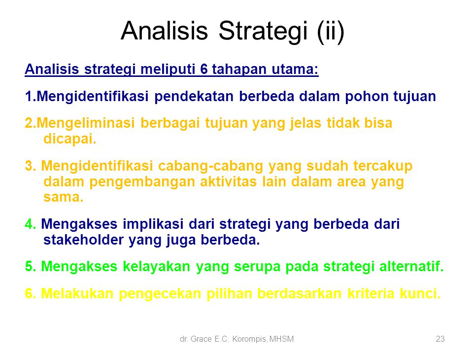 Analisis Strategi (ii)